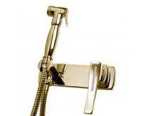 zlatá baterie bidetová s ruční sprchou Maier