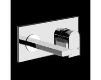 baterie umyvadlová Gessi Via Manzoni, externí část, chrom