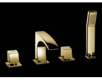 zlatá baterie vanová 4-otvorová Maier Skip Diamond