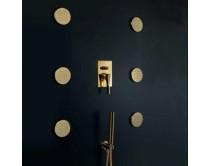 zlatá sprchová tryska kulatá 10 cm Maier