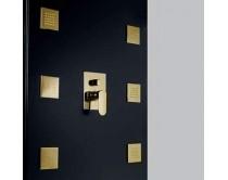 zlatá sprchová tryska hranatá 10 cm Maier