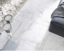 dlažba aspetto bianco natural 60x60, styl mramor, bílá