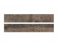 dlažba EMI natural dekor 20x120, styl dřevo, hnědo-černá