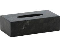 zásobník na kapesníky z mramoru Aquanova Hammam, šedý