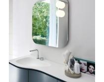 zrcadlo s osvětlením, 80x80 cm, SEMISFERA, Idea