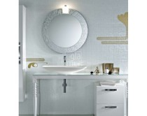 zrcadlo Ø80 cm, ROTONDA s osvětlením CUBO, Idea Deko