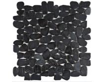 mozaika z oblázků 30x30, černá