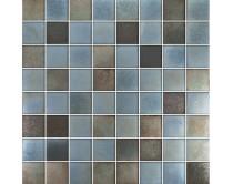 mozaika X-tura, 32 x 32 cm, barva šedo-hnědo-rezavá