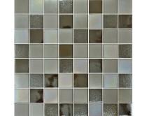 mozaika X-tura, 32 x 32 cm, barva šedo-rezavá