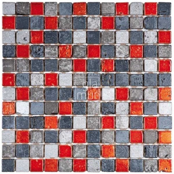 Mozaika mramorov s dekora n mi prvky 30x30 edo erven for Carrelage 84