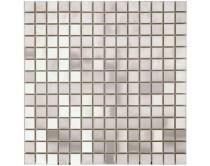 mozaika kartáčovaná nerezová ocel 30x30, stříbrná