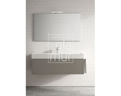 skříňka závěsná s umyvadlem 100x45x46 cm, Idea Basic, výběr barev