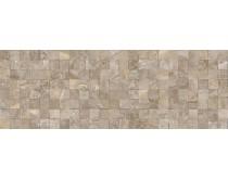 obklad mosaico recife gris 32x90, plastický 3D, lesklý, šedý