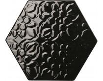 obklad TEXB-EDR 15x17, plastický obklad 3D, lesklý, černý