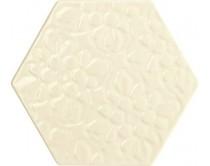 obklad TEXB-EDR 15x17, plastický obklad 3D, lesklý, krémový