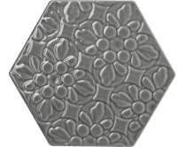 obklad TEXB-EDR 15x17, plastický obklad 3D, lesklý, šedý