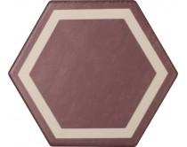 dlažba TEXM-DE natural 15x17, styl dekor, červeno-krémová