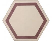 dlažba TEXM-DE natural 15x17, styl dekor, krémovo-červená