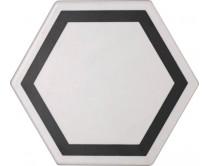 dlažba TEM-DE natural 15x17, styl dekor, bílo-černá