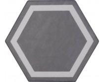 dlažba TEM-DE natural 15x17, styl dekor, tmavě šedá
