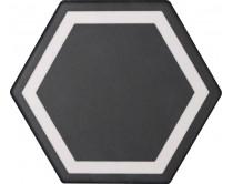 dlažba TEM-DE natural 15x17, styl dekor, černo-bílá