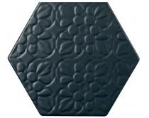 dlažba TEXM-EDR natural 15x17, styl dekor, černá