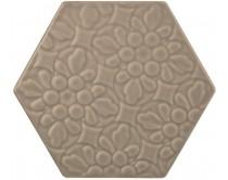 dlažba TEXM-EDR natural 15x17, styl dekor, hnědá