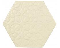 dlažba TEXM-EDR natural 15x17, styl dekor, krémová
