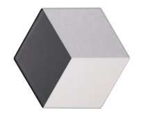 dlažba TEXM-DT natural 15x17, styl dekor, černo-šedo-bílá