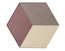 dlažba TEM-DT natural 15x17, styl dekor, červeno-hnědo-krémová