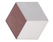 dlažba TEM-DT natural 15x17, styl dekor, červeno-šedo-bílá