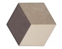 dlažba TEM-DT natural 15x17, styl dekor, hnědo-krémová