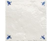 obklad TPR-DBOC 15x15, styl dekor, lesklý, bílo-modrý