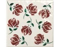 obklad TPR-DBOU 15x15, styl dekor, lesklý, červený