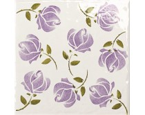 obklad TPR-DBOU 15x15, styl dekor, lesklý, fialový