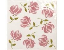 obklad TPR-DBOU 15x15, styl dekor, lesklý, růžový