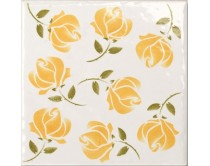 obklad TPR-DBOU 15x15, styl dekor, lesklý, žlutý