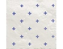 obklad TPR-DCAL 15x15, styl dekor, lesklý, bílo-modrý