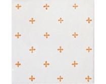 obklad TPR-DCAL 15x15, styl dekor, lesklý, bílo-oranžový