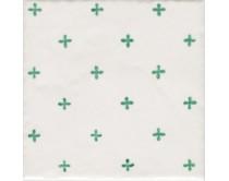 obklad TPR-DCAL 15x15, styl dekor, lesklý, bílo-zelený