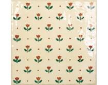 obklad TPR-DGAR 15x15, styl dekor, lesklý, krémový