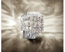 svítidlo nástěnné s krystaly Swarovski Windisch, chrom