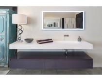 nábytková sestava s bílým umyvadlem, Idea NYU, fialová