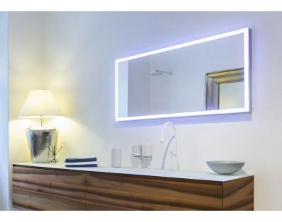 zrcadlo s LED osvětlením 125x60cm, Idea CUBIK